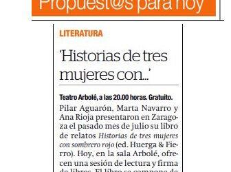 Lectura en Arbolé – El Periódico de Aragón